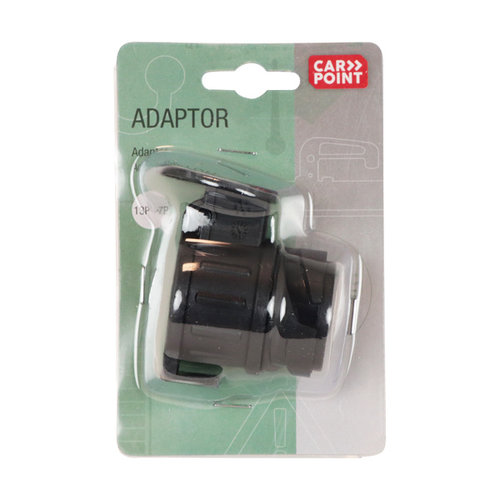 Carpoint Adapter kort 13-7-polig 12V