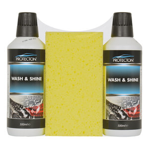Protecton Protecton Wash & shine set 2x 500ml met spons