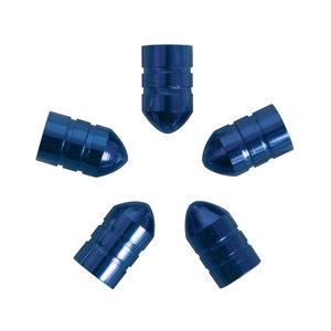 Carpoint Ventieldopjes 5st kogel blauw