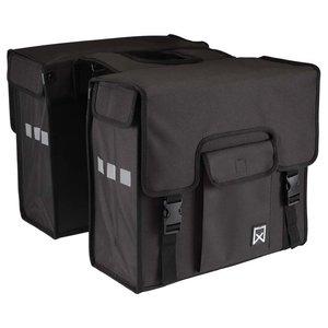 Willex Dubbele Shopper Zwart 38 liter