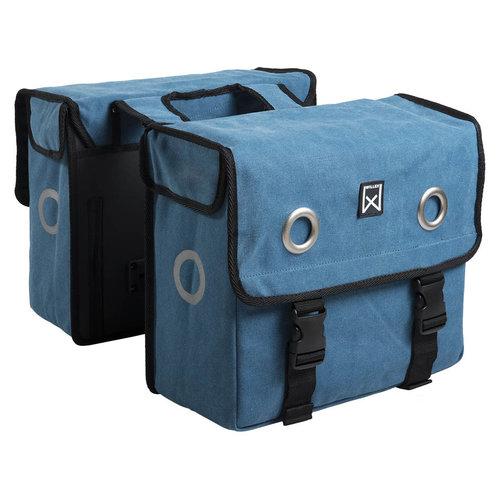 Willex Canvas Dubbele Tas 30L Stormblauw 30L