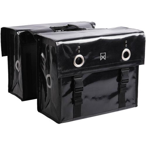 Willex Dubbele Bisonyl Tas 52L Zwart 52 liter
