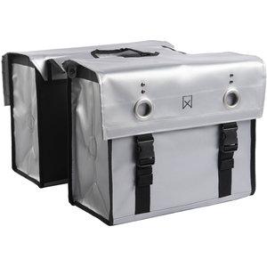 Willex Dubbele Bisonyl Tas 52L Zilver 52 liter