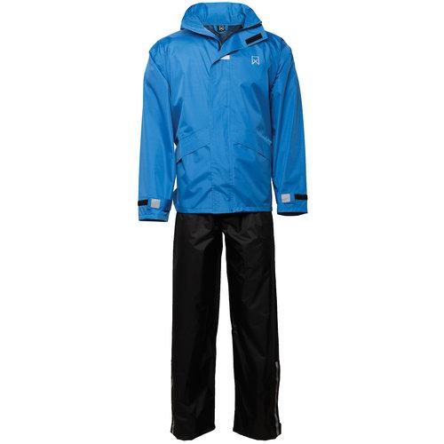 Willex Regenpak Blauw/Zwart M
