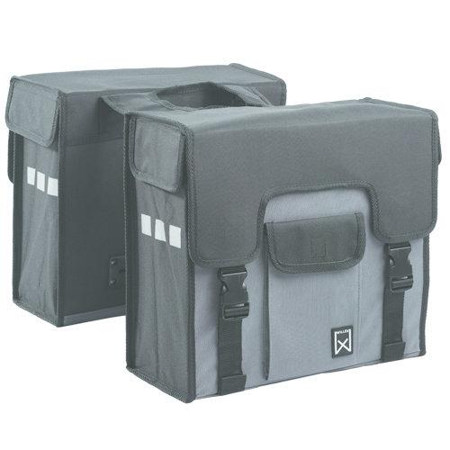 Willex Dubbele Shopper Grijs/Zwart 38 liter