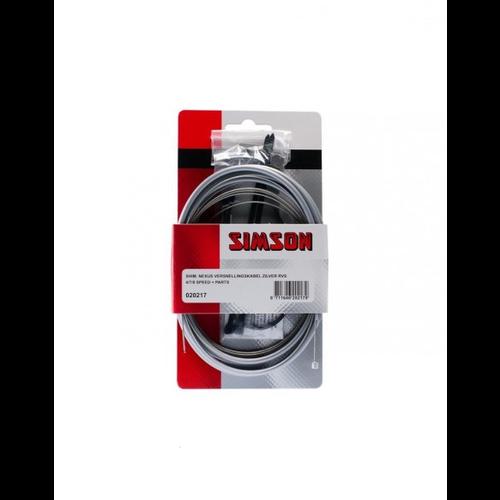 Simson SIMSON Shim. Nexus Versn.kabel zilver RVS