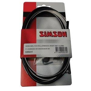 Simson SIMSON remkabel RVS Shim, Rollerbrake met klembout zwart