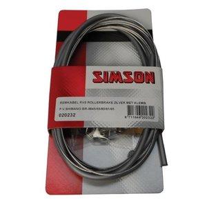 Simson SIMSON remkabel RVS Shim, Rollerbrake met klembout zilver