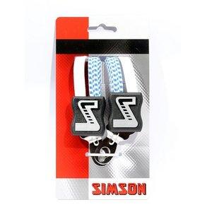 Simson SIMSON snelbinder wit-blauw 49cm, extra kort