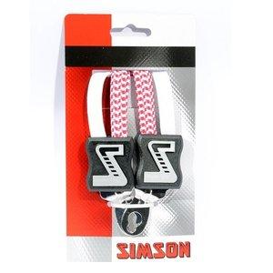 Simson SIMSON snelbinder wit-roze 49cm, extra kort