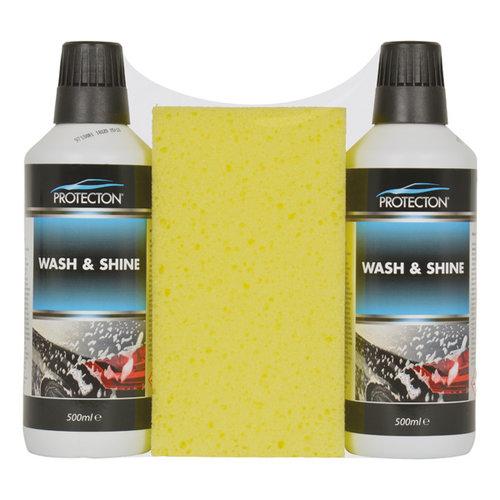 Protecton Protecton Wash & shine set 2x 500ml met spons