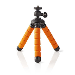 nedis Ministatief / Max. 0,5 kg / 13 cm / Flexibel / Zwart/oranje