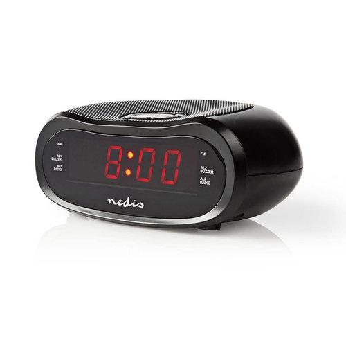 """nedis Digitale Wekkerradio   LED van 0,6""""   FM   20 Voorkeuze-Instellingen   Sluimeren"""