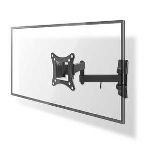 "nedis Full-Motion TV-muur beugel | 13 - 27"" | Max. 15 kg | 3 scharnierpunten"