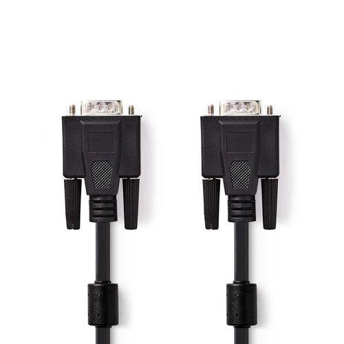 nedis VGA-Kabel / VGA Male - VGA Male / 2,0 m / Zwart