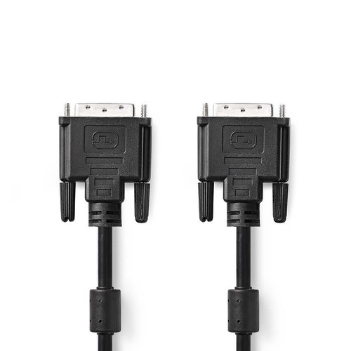 nedis DVI-Kabel / DVI-D 24+1-Pins Male - DVI-D 24+1-Pins Male / 3,0 m / Zwart