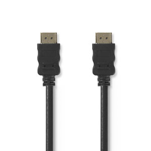 nedis High Speed HDMI -Kabel m Ethernet / HDMI -Conn- HDMI -Conn / 1,0 m / Zwart