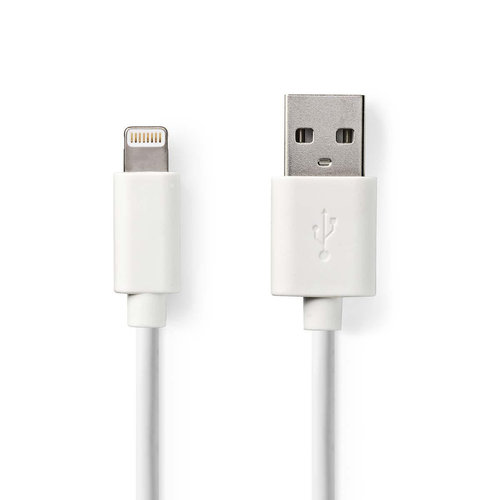 nedis Sync and Charge-Kabel / Apple Lightning - USB-A Male / 3,0 m / Wit