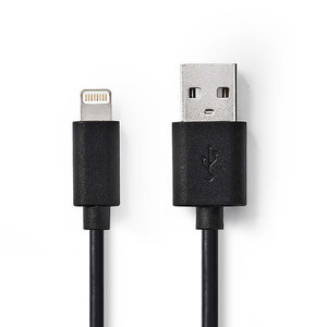 nedis Sync and Charge-Kabel / Apple Lightning - USB-A Male / 1,0 m / Zwart