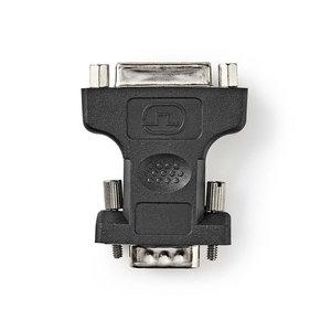 nedis VGA - DVI-Adapter / VGA Male - DVI-I 24+5-Pins Female / Zwart