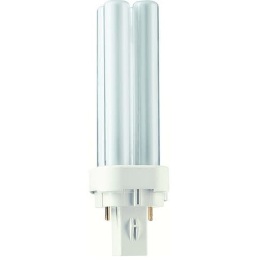 Philips Philips Compact Fluor Plc 10W 830 3000K 2-Pins G24D-1 Warmwit