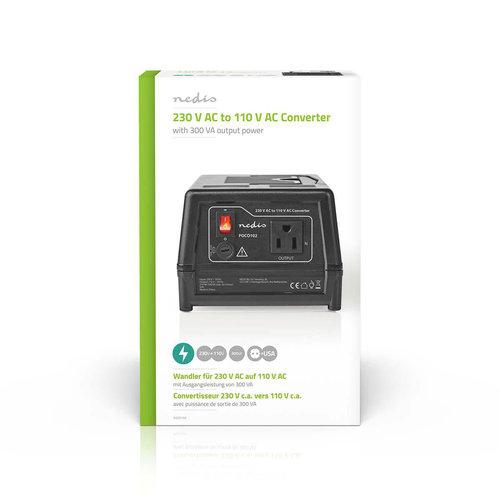nedis Stroomomvormer / 230 V AC - 110V AC / 300 W / Earthed USA-Uitgang