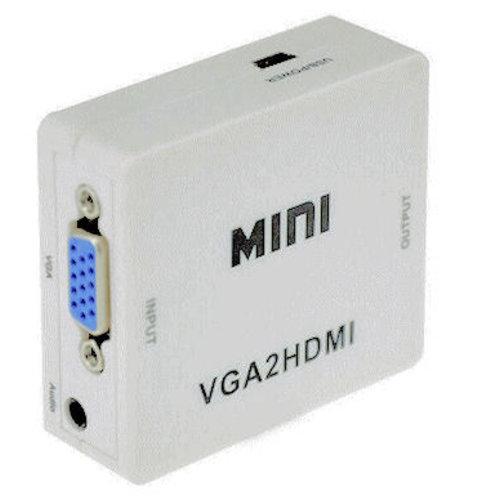 com VGA+Audio NAAR HDMI CONVERTER Incl. USB Voeding