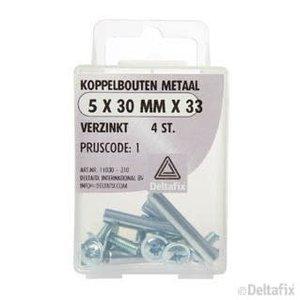 Deltafix KOPPELBOUTEN METAAL 5 X 30 X 33 MM VERZINKT 4 ST.