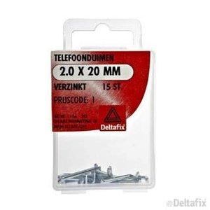 Deltafix TELEFOONDUIMEN 2.0 X 20 MM X  VERZINKT 15 ST.