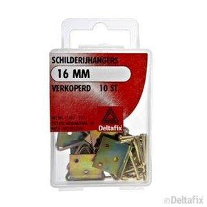 Deltafix SCHILDERIJHANGERS 16 MM X  X  VERKOPERD 10 ST.