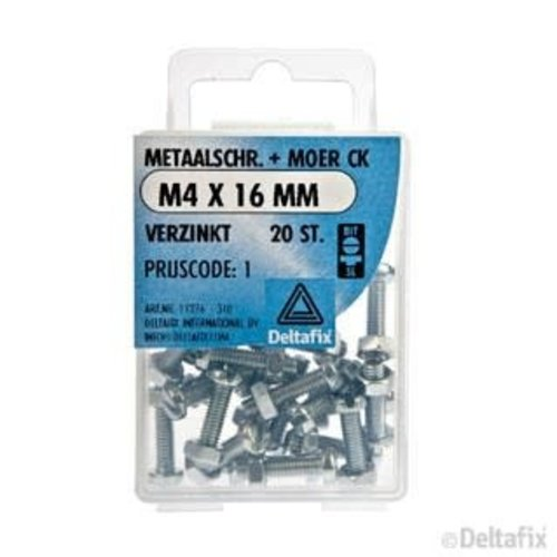 Deltafix METAALSCHR. CK + MOER M3 X 50 MM X  VERZINKT 8 ST.