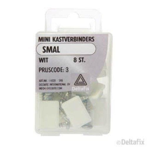 Deltafix MINI KASTVERBINDERS SMAL X 2 CM X 2 GAT WIT 8 ST.