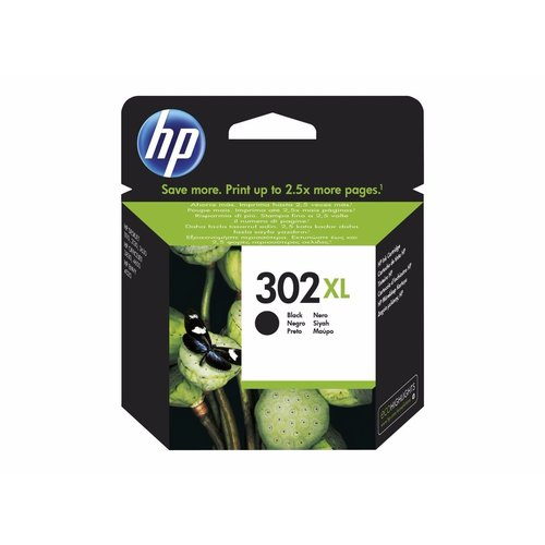 HP Hewlett-Packard HP No.302XL Zwart 8,5ml F6U68AE