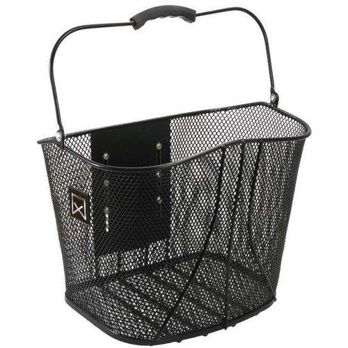 Willex Metalen mand met kliksysteem Zwart14 liter