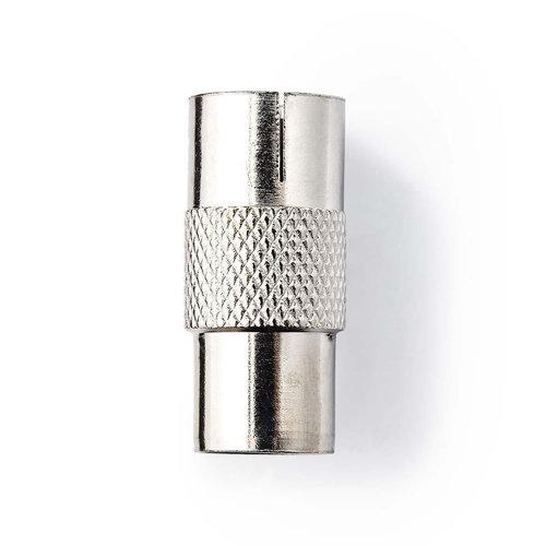 nedis Coaxadapter / IEC (Coax) Male - IEC (Coax) Female / Metaal