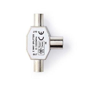 nedis Coaxsplitter / 2x IEC (Coax) Male - IEC (Coax) Female / Metaal