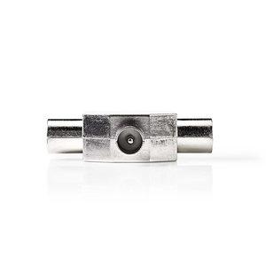 nedis Coaxsplitter / IEC (Coax) Male - 2x IEC (Coax) Female / Metaal