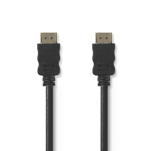 nedis High Speed HDMI -Kabel met Ethernet / HDMI -Connector - HDMI -Connector / 0,5 m / Zwart