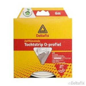 Deltafix TOCHTSTRIP O-PROFIEL EPDM  6 M X 9 MM X 6 MM WIT