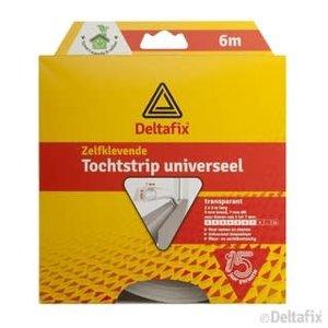 Deltafix TOCHTSTRIP UNIVERSEEL TP 6 M X 9 MM X 7 MM TRANSP.