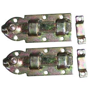 QlinQ Schuif 80mm (2) vlak verzinkt Qlinq