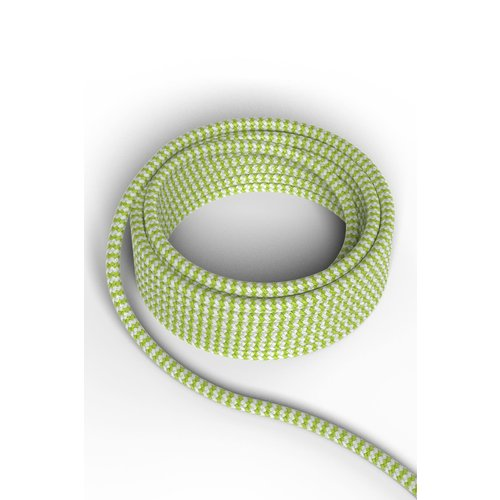 Calex Kabel Kabel limoen/wit 2x0,75mm 3m