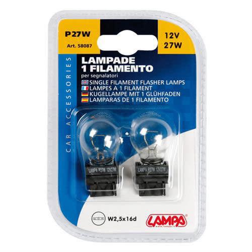 Lampa P27W lamp 12V 27W