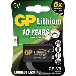 GP G.P Batterij Lithium Crv9 9Volt Voor Rookmelder