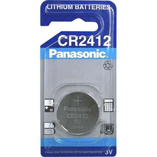 Panasonic CR2412 LITHIUM 3V 24.5MM, 100MAH