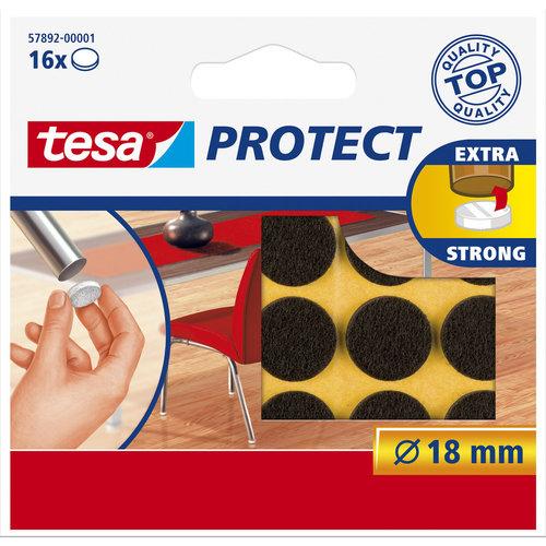 Tesa 18 Mm Tesa Beschermvilt 57892 Bruin