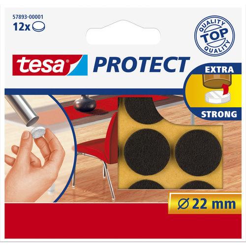 Tesa 22 Mm Tesa Beschermvilt 57893 Bruin