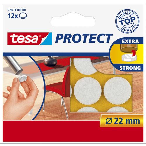 Tesa 22 Mm Tesa Beschermvilt 57893 Wit