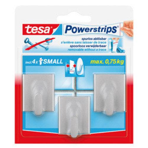 Tesa Tesa powerstrips haakje vierkant small chroom 3 stuks