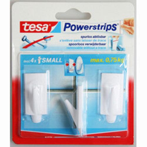 Tesa Tesa powerstrips haakjes small rechthoek trend wit 3 stuks
